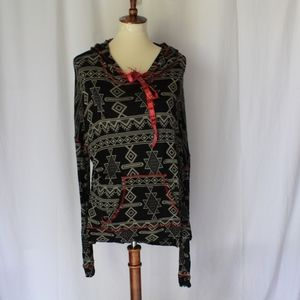 BKE hooded long sleeve loose fit sweater top sz S